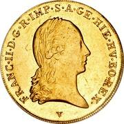 Belgium Souverain D'or 1793 V KM# 64 Trade Coinage FRANC II D G R IMP S A GE HIE HV BO REX coin obverse