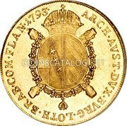 Belgium Souverain D'or 1793 V KM# 64 Trade Coinage coin reverse