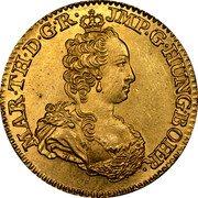 Belgium Souverain D'or (Maria Theresia) KM# 10 MAR TH D GR JMP G HUNG BOH R coin obverse