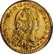 Portugal 1/2 Escudo (800 Reis) 1776 KM# 244.1 Kingdom Milled coinage coin obverse