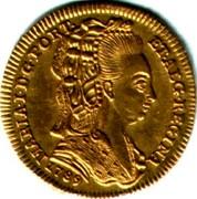 Portugal 1/2 Escudo (800 Reis) 1789 KM# 296 Kingdom Milled coinage MARIA I D G PORT ET ALG REGINA coin obverse