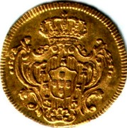 Portugal 1/2 Escudo (800 Reis) 1789 KM# 296 Kingdom Milled coinage coin reverse