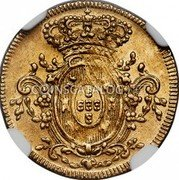 Portugal 1/2 Escudo (800 Reis) 1805 KM# 337 Kingdom Milled coinage coin reverse