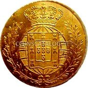 Portugal 1/2 Escudo (800 Reis) 1821 KM# 361 Kingdom Milled coinage coin reverse
