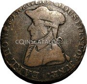 UK 1/2 Penny (Hampshire - Emsworth / J. Stride) EARL HOWE & THE GLORIOUS FIRST OF JUNE. coin obverse