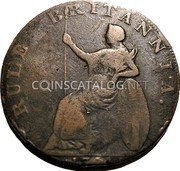 UK 1/2 Penny (Hampshire - Emsworth / J. Stride) RULE BRITANNIA. 1794 coin reverse