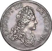 UK 1 Crown James VIII 1709  IACOBVS III DEI GRATIA coin obverse