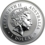 Australia 1 Dollar (Australian Kookaburra) KM# 399 ELIZABETH II AUSTRALIA IRB 1 DOLLAR coin obverse