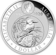 Australia 1 Dollar Kookaburra. ANDA Brisbane Cooktown Orchid Privy mark 2020 P ELIZABETH II AUSTRALIA 1 DOLLAR coin obverse