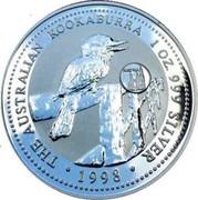 Australia 1 Dollar Kookaburra. Austria Privy Mark 1998 KM# 362.4 THE AUSTRALIAN KOOKABURRA 1 OZ. 999 SILVER 1998 coin reverse