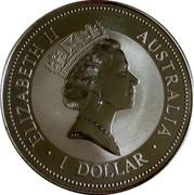 Australia 1 Dollar Kookaburra. Basler Stab Privy Mark 1996 KM# 289.1 ELIZABETH II AUSTRALIA 1 DOLLAR coin obverse
