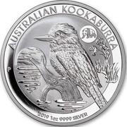 Australia 1 Dollar Kookaburra. Beijing Panda Privy mark 2019 P AUSTRALIAN KOOKABURRA 2019 1 OZ 9999 SILVER coin reverse