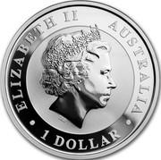 Australia 1 Dollar Kookaburra. f15 Fabulous Privy mark 2018 P ELIZABETH II AUSTRALIA 1 DOLLAR coin obverse