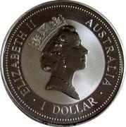 Australia 1 Dollar Kookaburra. France Privy Mark 1996 KM# 289.2 ELIZABETH II AUSTRALIA 1 DOLLAR coin obverse