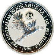 Australia 1 Dollar (Kookaburra. Great Britain Privy Mark) KM# 289.5 THE AUSTRALIAN KOOKABURRA 1 OZ. 999 SILVER 1996 coin reverse