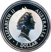 Australia 1 Dollar Kookaburra. Ireland Privy Mark 1998 KM# 362.3 ELIZABETH II AUSTRALIA 1 DOLLAR coin obverse