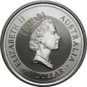Australia 1 Dollar Kookaburra. Japan Gold Yen Privy Mark 1997 KM# 318.12 ELIZABETH II AUSTRALIA 1 DOLLAR coin obverse