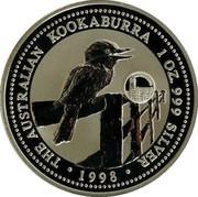 Australia 1 Dollar Kookaburra. Luxemburg Privy Mark 1998 KM# 362.2 THE AUSTRALIAN KOOKABURRA 1 OZ. 999 SILVER 1998 coin reverse