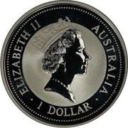 Australia 1 Dollar Kookaburra. Oldsmobile Privy Mark 1997 KM# 318.8 ELIZABETH II AUSTRALIA 1 DOLLAR coin obverse