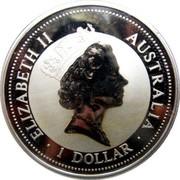 Australia 1 Dollar Kookaburra. Panda Privy Mark 1995 KM# 260 ELIZABETH II AUSTRALIA 1 DOLLAR coin obverse