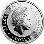 Australia 1 Dollar Kookaburra. Panda Privy mark 2018 P ELIZABETH II AUSTRALIA 1 DOLLAR coin obverse