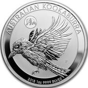 Australia 1 Dollar Kookaburra. Panda Privy mark 2018 P AUSTRALIAN KOOKABURRA 2018 1 OZ 9999 SILVER coin reverse