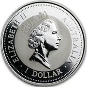 Australia 1 Dollar Kookaburra. Phoenix Privy Mark 1997 KM# 318.10 ELIZABETH II AUSTRALIA 1 DOLLAR coin obverse
