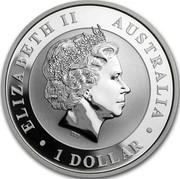 Australia 1 Dollar Kookaburra. Shark Privy mark 2017 P ELIZABETH II AUSTRALIA 1 DOLLAR coin obverse