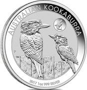 Australia 1 Dollar Kookaburra. Shark Privy mark 2017 P AUSTRALIAN KOOKABURRA 2018 1 OZ 999 SILVER coin reverse