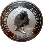 Australia 1 Dollar Kookaburra. Sweden Privy Mark 1998 KM# 362 ELIZABETH II AUSTRALIA 1 DOLLAR coin obverse