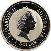 Australia 1 Dollar Kookaburra. Team Australia Privy Mark 1994 KM# 212.1 ELIZABETH II AUSTRALIA 1 DOLLAR coin obverse