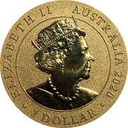 Australia 1 Dollar (Merry Christmas) ELIZABETH II AUSTRALIA 2020 1 DOLLAR JC coin obverse