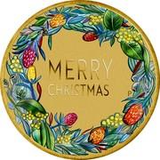 Australia 1 Dollar (Merry Christmas) MERRY CHRISTMAS P AH coin reverse