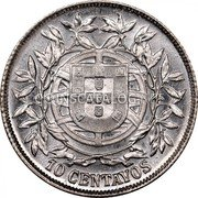 Portugal 10 Centavos 1915 KM# 563 Republic coin reverse