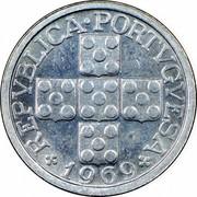 Portugal 10 Centavos 1969 KM# 594 Republic REPUBLICA PORTVGVESA 1969 coin obverse