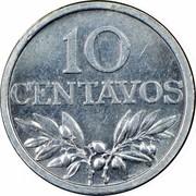Portugal 10 Centavos 1969 KM# 594 Republic 10 CENTAVOS M. NORTE coin reverse