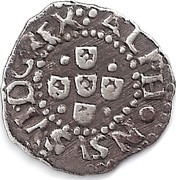 Portugal 10 Reis (1/2 Vinten) Afonso VI ND KM# 65 ALPHONSVS.VI.DG.REX coin obverse