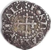 Portugal 10 Reis (1/2 Vinten) Afonso VI ND KM# 65 +PORTUGALIAE . AT . ALG coin reverse