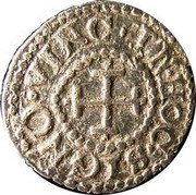 Portugal 10 Reis (1/2 Vinten) Afonso VI ND KM# 66 IN HOC SIGNO VINCES coin reverse