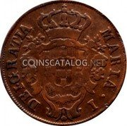 Portugal 10 Reis 1796 KM# 5 Prortuguese Administration Provincial coinage coin obverse