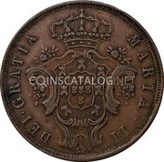 Portugal 10 Reis 1843 KM# 11 Portuguese Administration Provincial coinage coin obverse