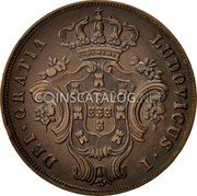 Portugal 10 Reis 1865 KM# 14 Portuguese Administration Provincial coinage coin obverse