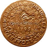 Portugal 10 Reis ND KM# 30 Portuguese Administration Countermarked coinage (1871 Decree) coin obverse