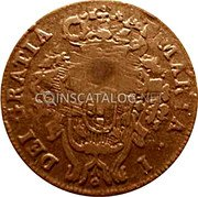 Portugal 10 Reis ND KM# 30 Portuguese Administration Countermarked coinage (1871 Decree) coin reverse
