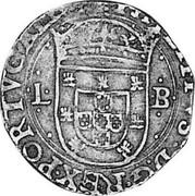 Portugal 100 Reis Filipe II ND LB KM# 6 PHILIPPVS D G REX PORTVGALIA L - coin obverse