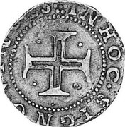 Portugal 100 Reis Filipe II ND LB KM# 6 IN HOC SIGNO VINCES coin reverse