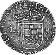 Portugal 100 Reis Filipe III ND LB KM# 17 PHIILIPVS.D G REX PORTVGALIAE L-B coin obverse