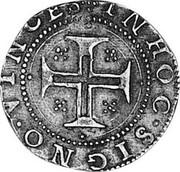 Portugal 100 Reis Filipe III ND LB KM# 17 IN HOC SIGNO VINCES coin reverse