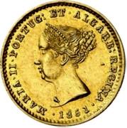 Portugal 1000 Reis 1851 KM# 486 Kingdom Decimal coinage coin obverse