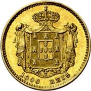 Portugal 1000 Reis 1851 KM# 486 Kingdom Decimal coinage coin reverse